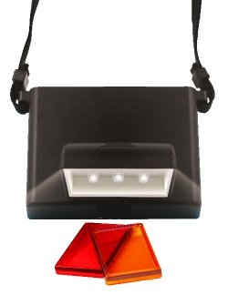 Beam n Read LED 3F Hands-Free Travel & Reading Light with Orange and Red Relaxation Filters