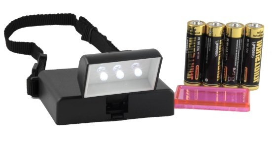 Beam N Read LED 3 Hands Free Light with Red Night Vision Filter & Included Batteries