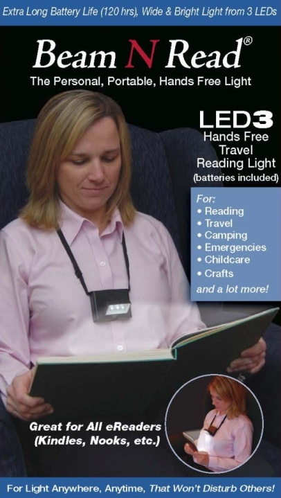 Box Cover, Beam N Read LED 3 Hands Free Travel Reading Light