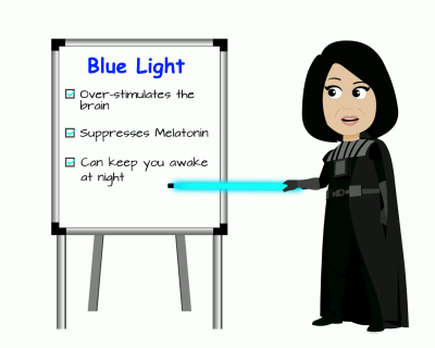 Betty explains hazards of blue light