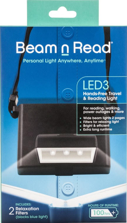 Box Cover, Beam n Read LED 3 Hands-Free Travel & Reading Light
