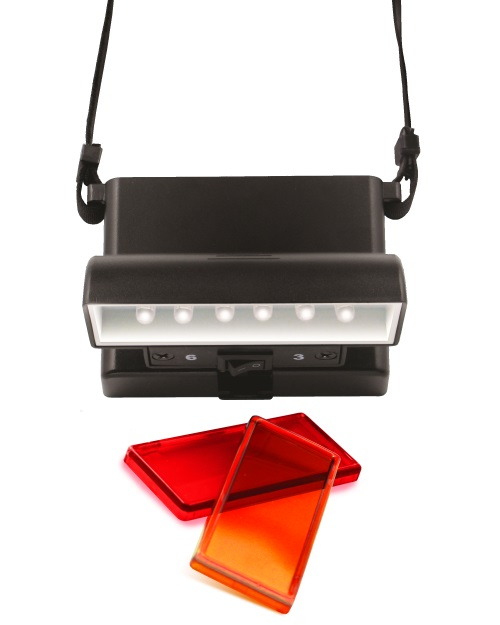 Beam n Read LED 6 Hands-Free Task Light with Orange and Red Relaxation Filters