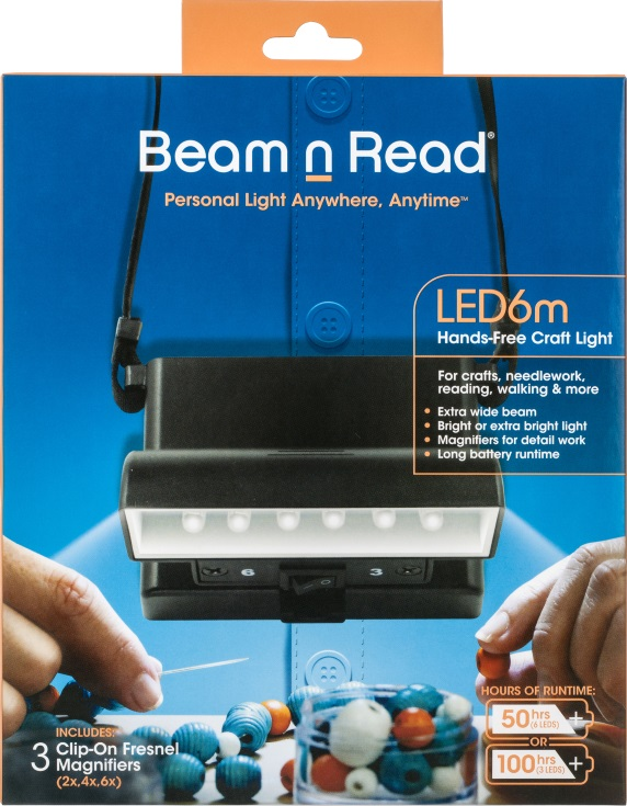 Box Cover, Beam n Read LED 6m Hands-Free Craft Light