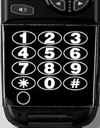 High Visibility Cellphone Keypad Stickers  | Large, Bold Type with High Contrast Colors
